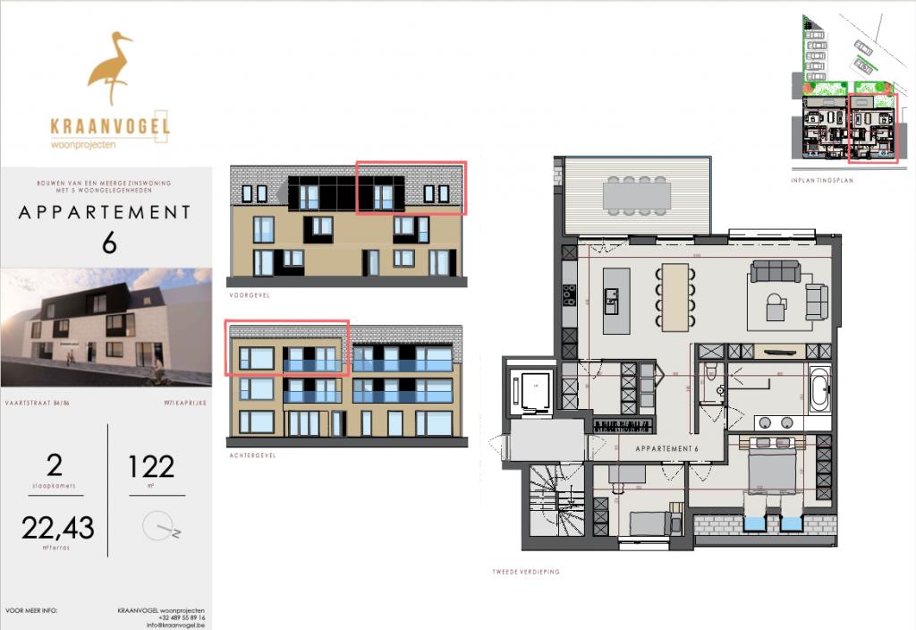 Residentie Axelle Kaprijke: appartement 6 (tweede verdieping)