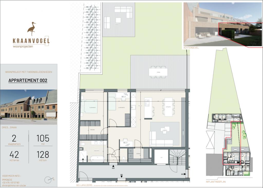 Residentie Den Dries Sinaai: appartement 2 (gelijkvloers)