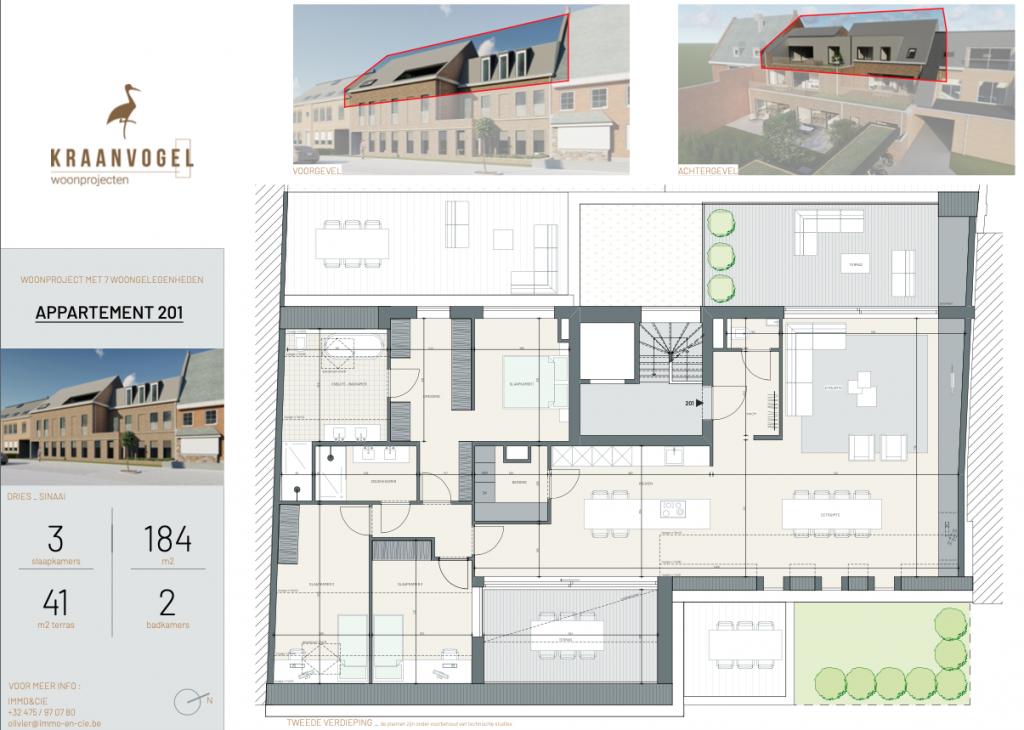 Residentie Den Dries Sinaai: appartement 1 (tweede verdieping)