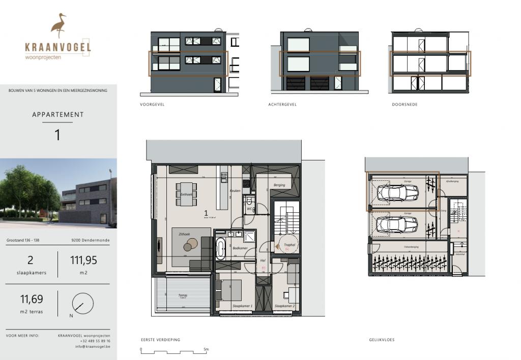 Grootzand: appartement 1