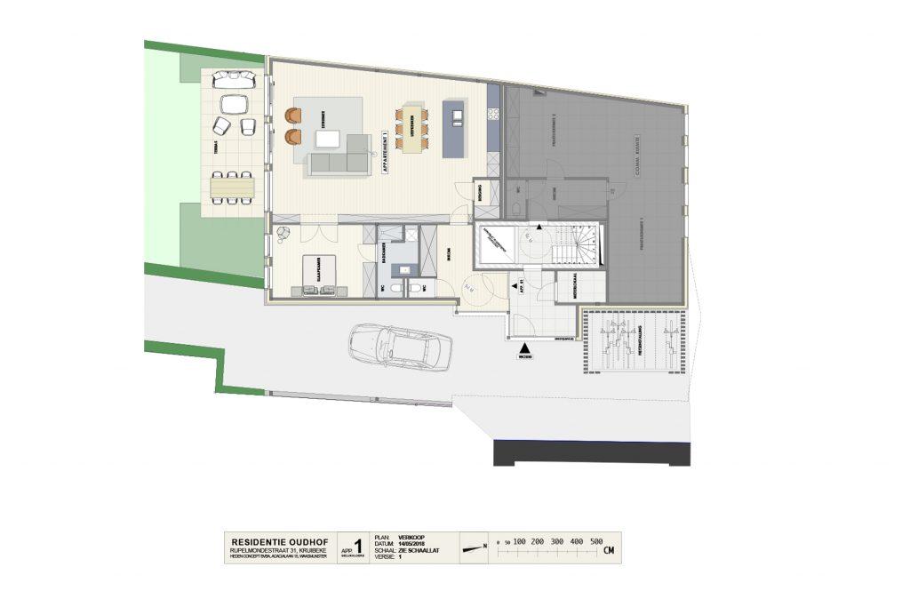 Residentie Oudhof: appartement 1 (gelijkvloers)